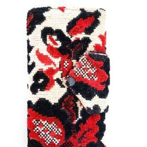 Vintage Floral Tapestry Wallet Clutch + Phone Case